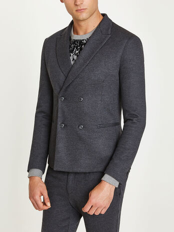 Four button wool jacket