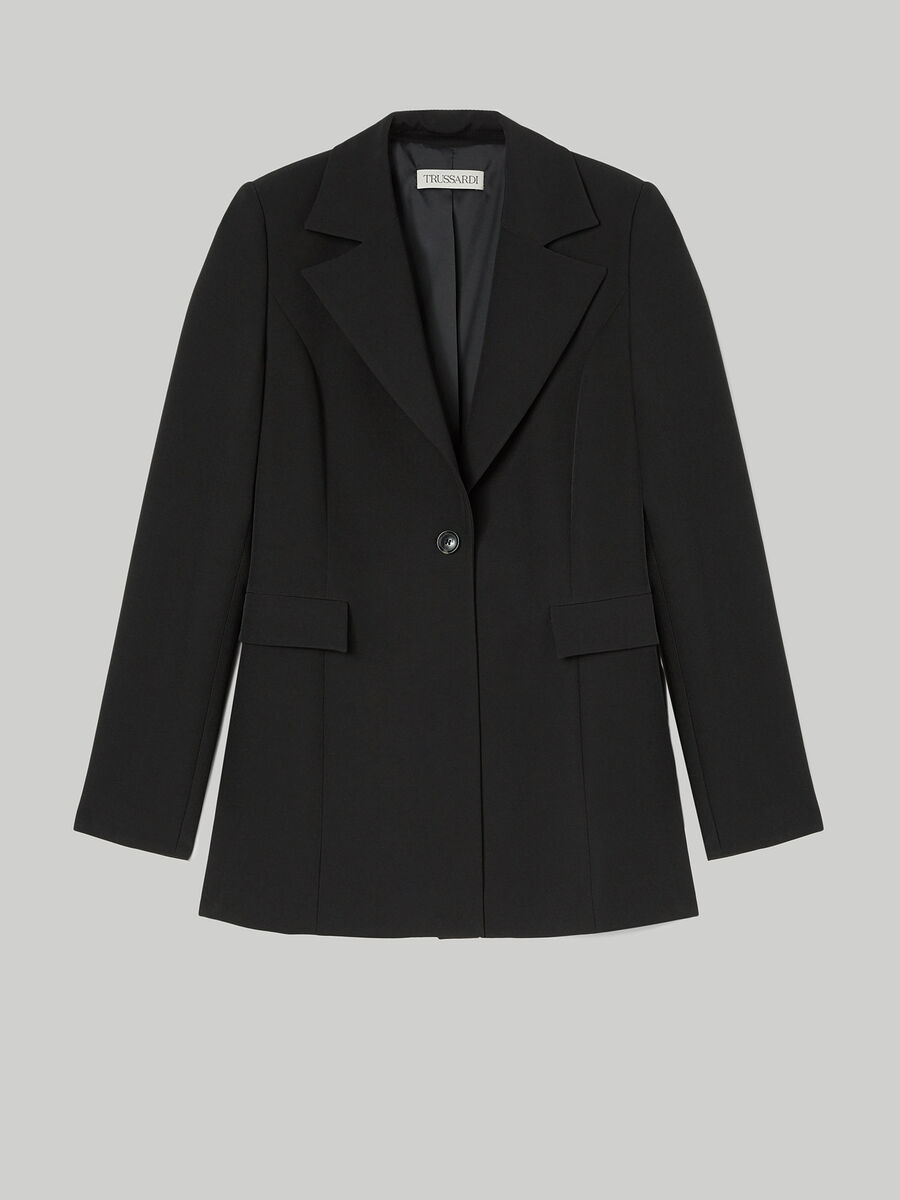 Technical cady blazer with side slits