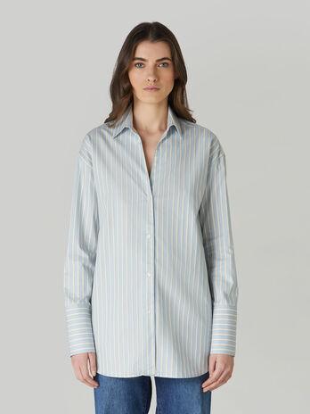 Camicia in oxford di cotone a righe