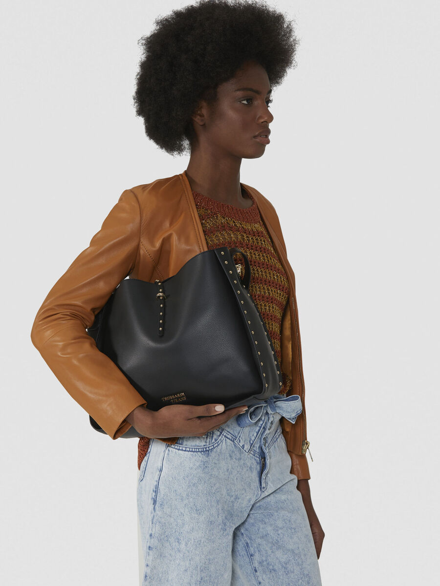 Dafne hobo bag in studded faux leather