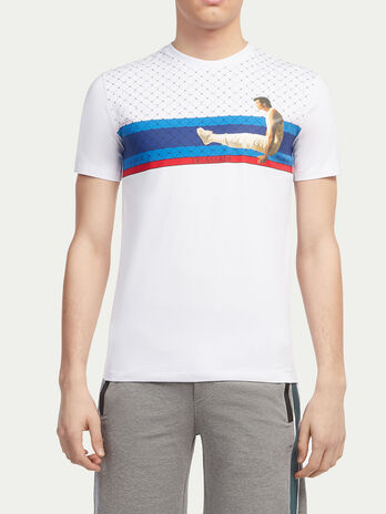 Monogram print T shirt