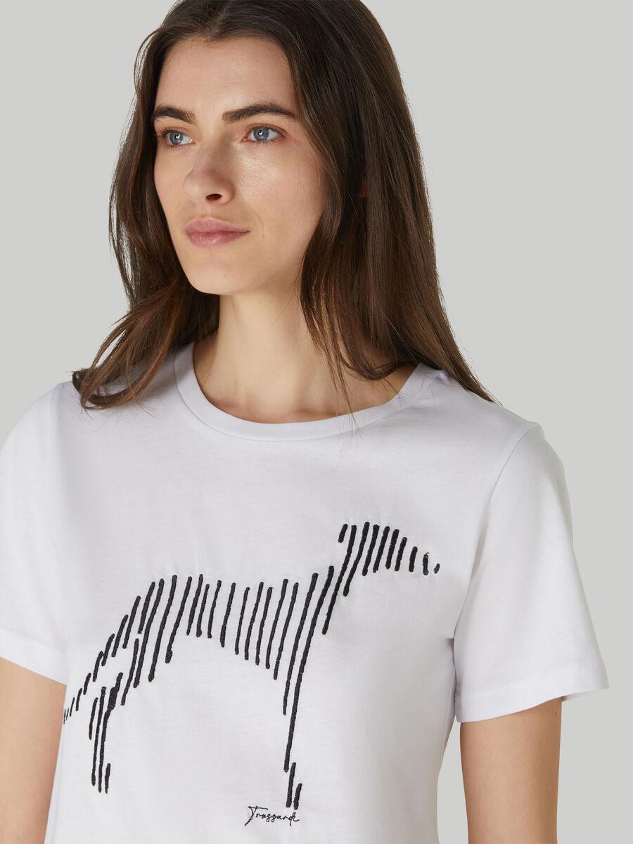 Camiseta de corte regular de punto de algodon estampado