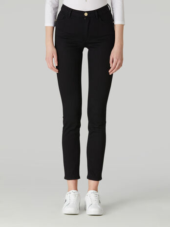 Jean 105 coupe skinny en denim Flat