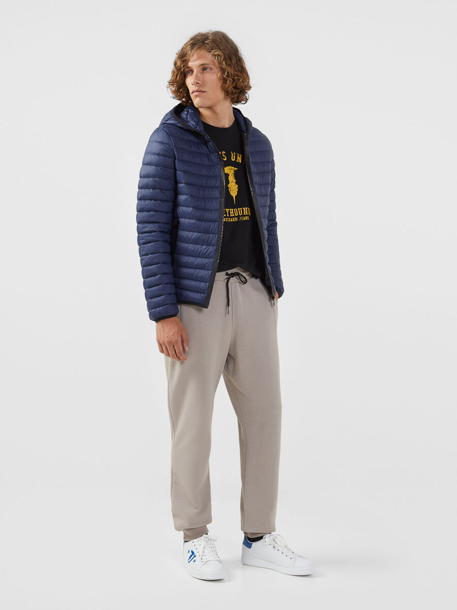 Regular fit fleece jogging bottoms