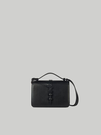 Small Leila crossbody bag in monochrome leather