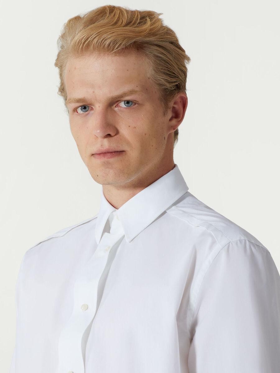 Oversize Hemd aus Baumwolle mit Schluppe