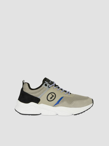 Mesh and suede Kiele running shoes