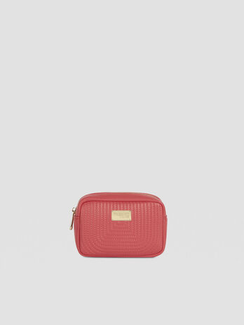 Frida toiletry bag in quilted faux leather