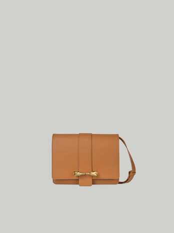 Cross-body Milano in cuoio e suede