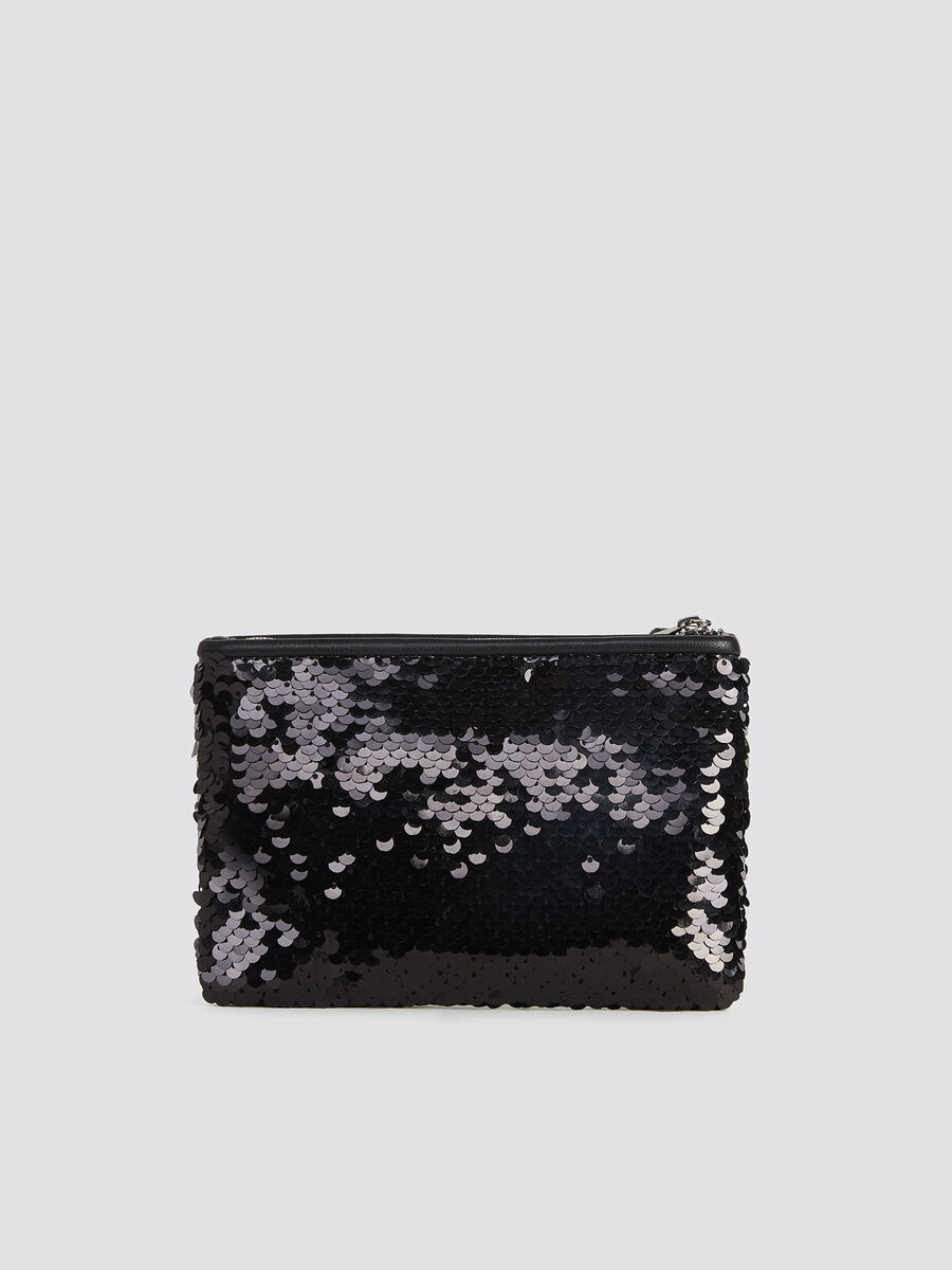 Clutch T-Wow Night Flat Small mit Pailletten und Logo