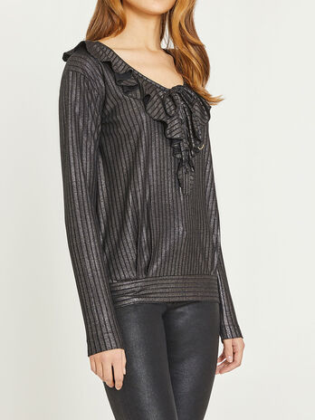 Long sleeves shirt with rouches