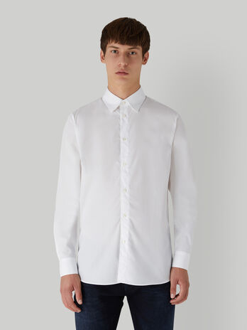 Camisa de corte regular de popelina de algodon