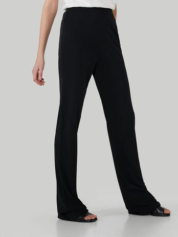Crepe jersey trousers