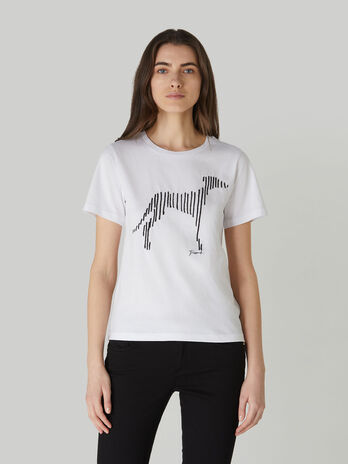 Regular-fit printed T-shirt in cotton jersey