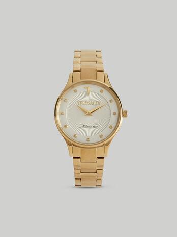 Armbanduhr Gold Edition 34MM mit Stahlarmband
