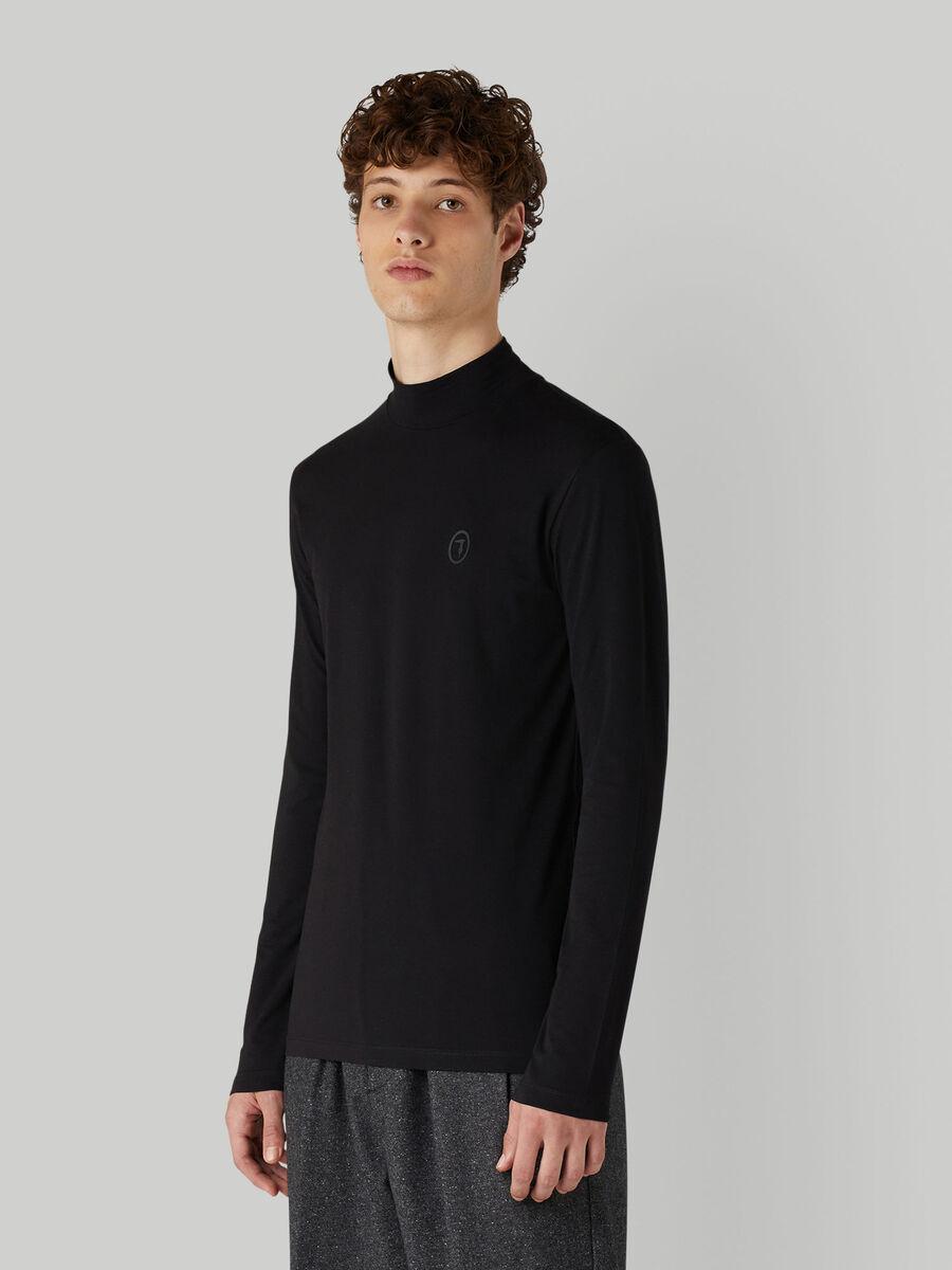Langarm-T-Shirt im Slim-Fit aus Jersey