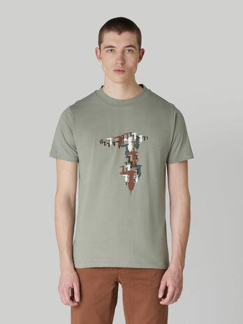 Regular-fit jersey T-shirt with monogram print