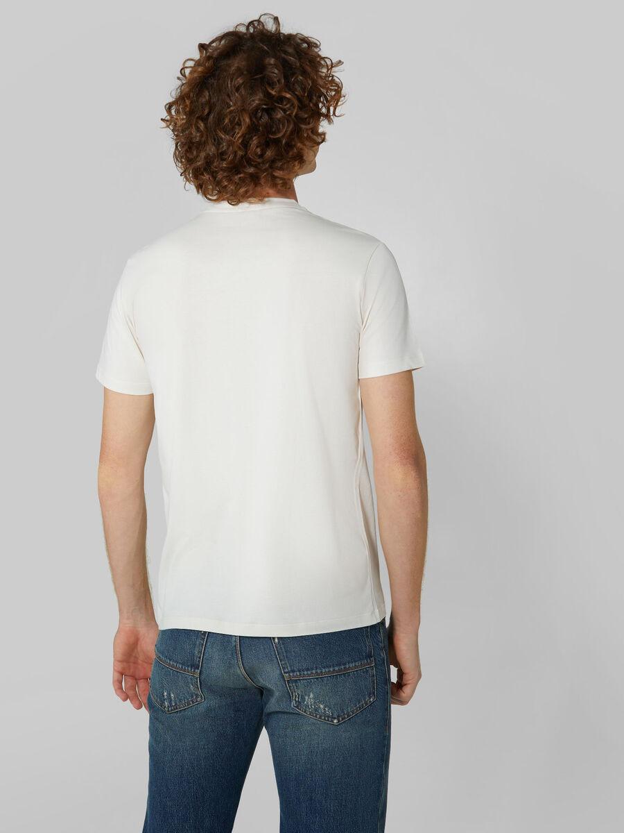 T-Shirt im Regular-Fit aus Baumwollstretch