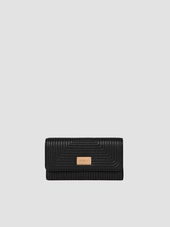 Large faux leather Frida continental purse