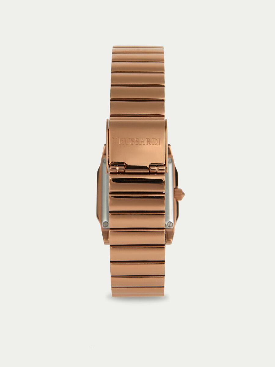 Montre T-Geometric a bracelet en metal or rose