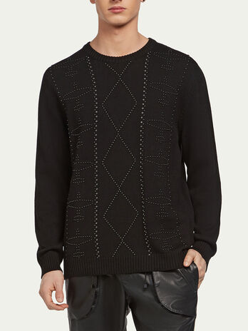 Tricot knit pure cotton pullover