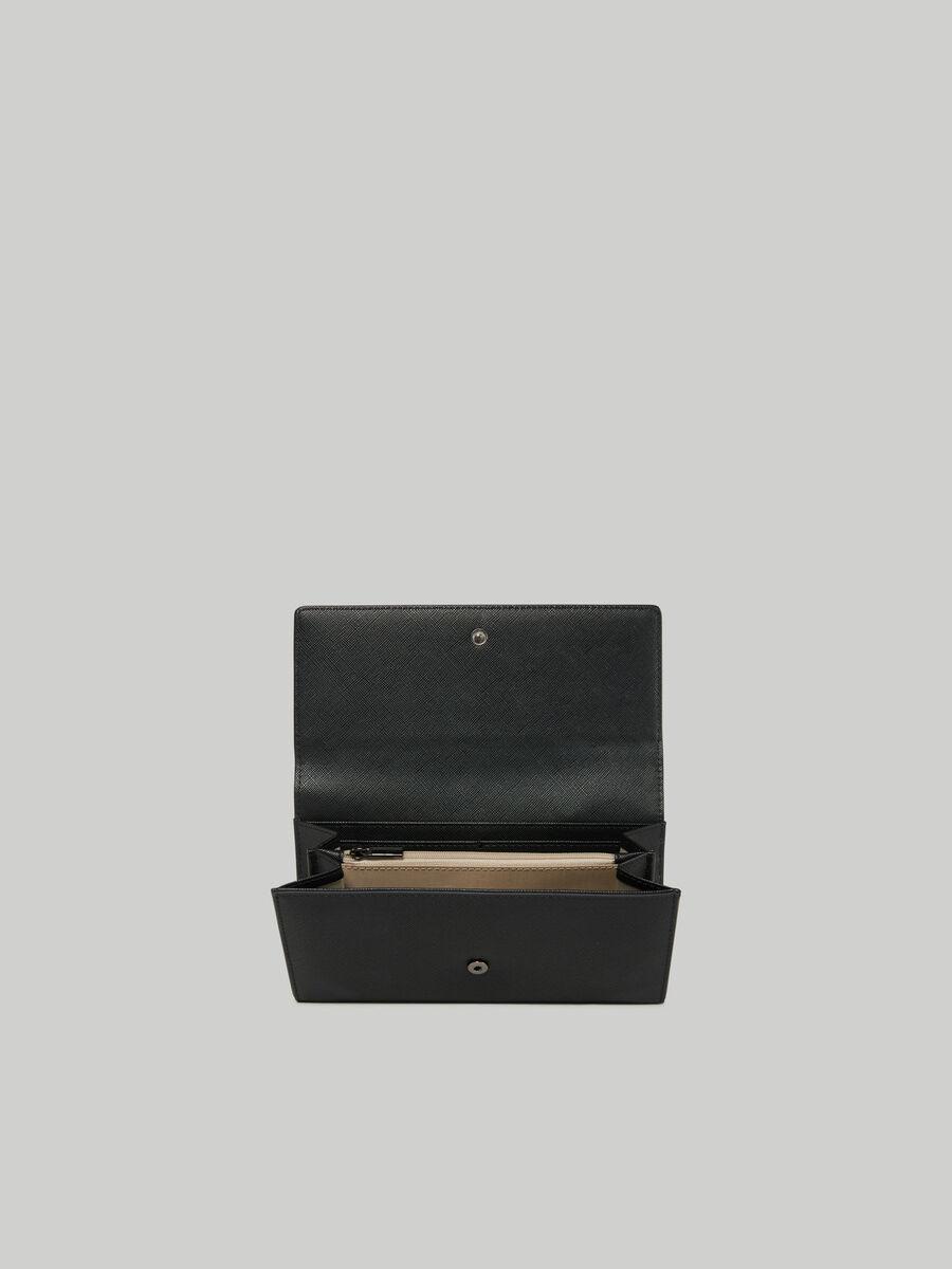 Dahlia continental purse in faux saffiano leather