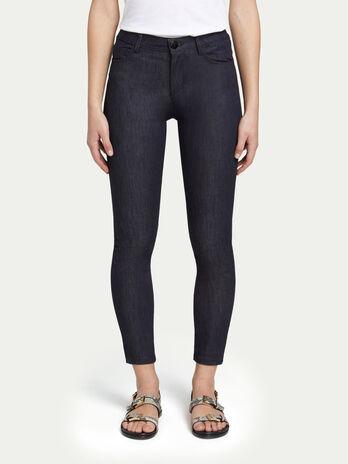 Skinny high waisted five pocket jeans