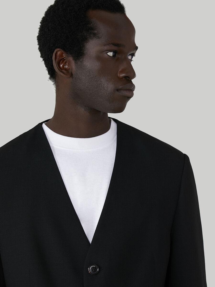 V-neck blazer in pure wool
