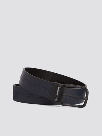 Ceinture Business City en cuir saffiano