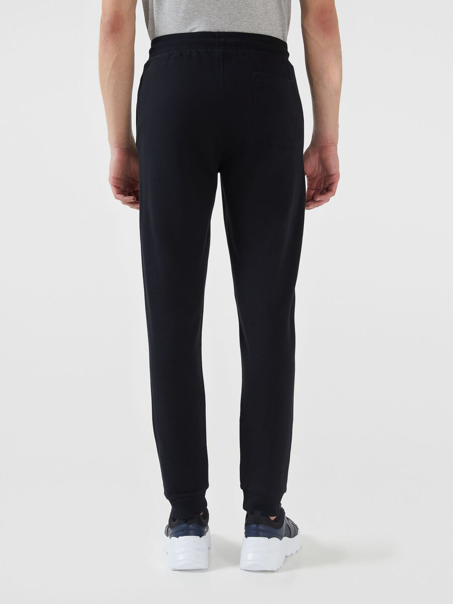 Regular fit fleece jogging bottoms with side lettering
