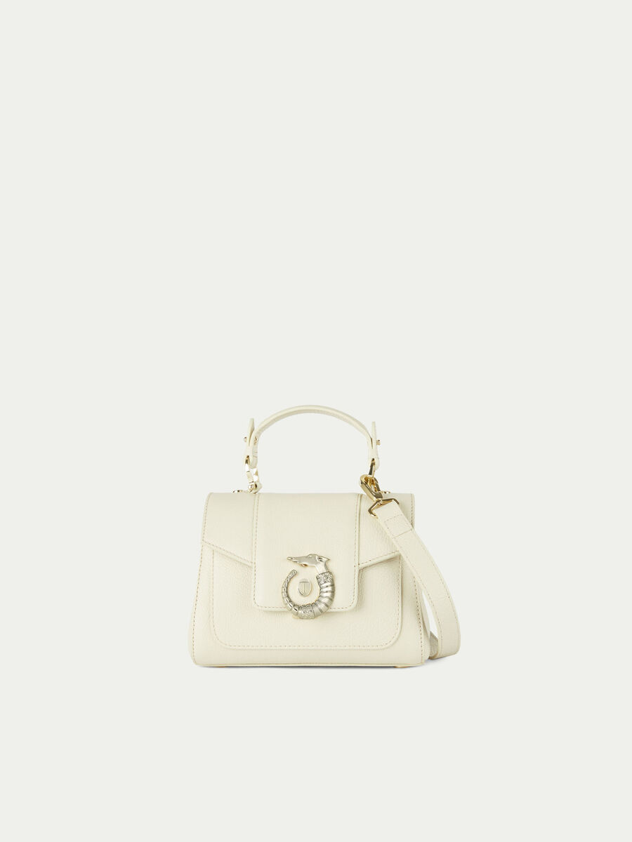 Mini Lovy Icon bag solid colour leather with Levriero