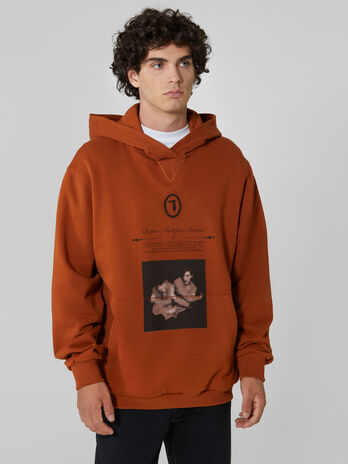 Oversized cotton hoody