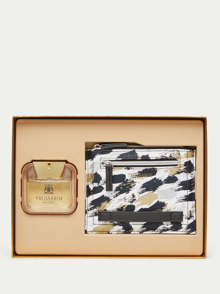 Coffret Trussardi My Land parfum et porte documents