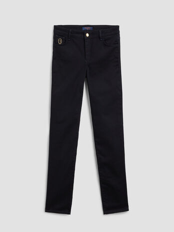 Jeans Up Fifteen aus Satin Denim