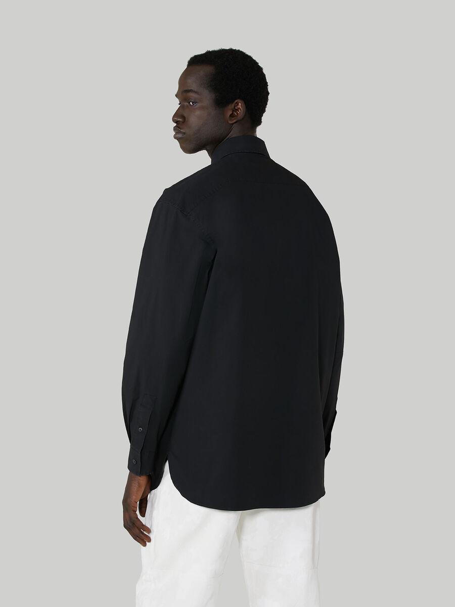 Chemise coupe over en coton avec cravate