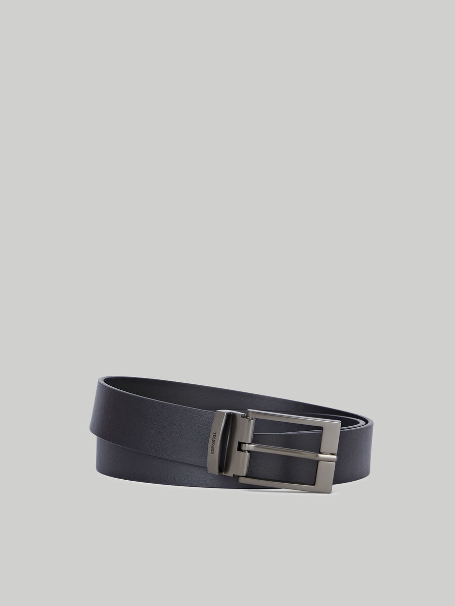 Cinturon de napa lisa