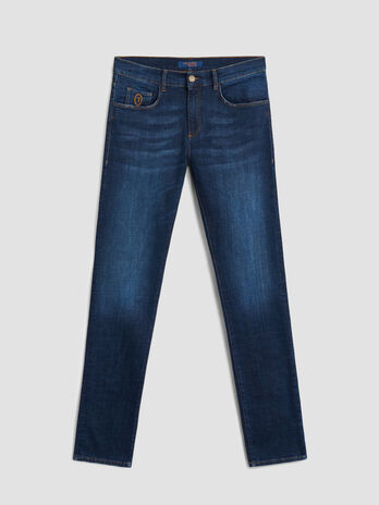 Extra slim 370 jeans in Cross denim