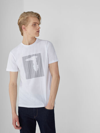 T-Shirt im Regular-Fit aus Baumwollstretch