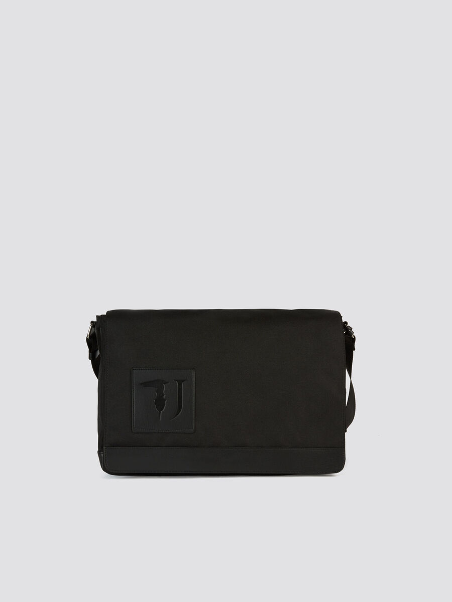 Large Ticinese messenger bag faux leather and Cordura