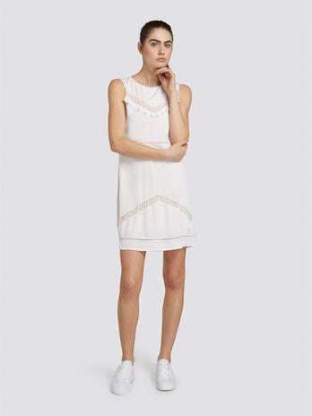 e500c613956a Mini abito regular fit in crepe smanicato