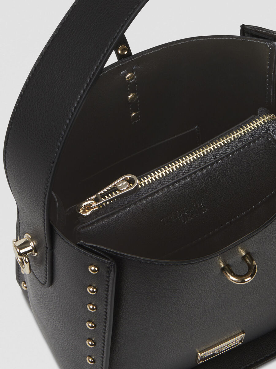 Small Dafne hobo bag in studded faux leather