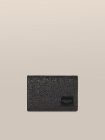 Medium Business card holder in Crespo leather