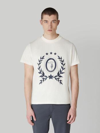 T-shirt boxy fit in puro cotone con stampa levriero