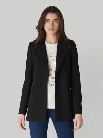Technical cady blazer with side slits