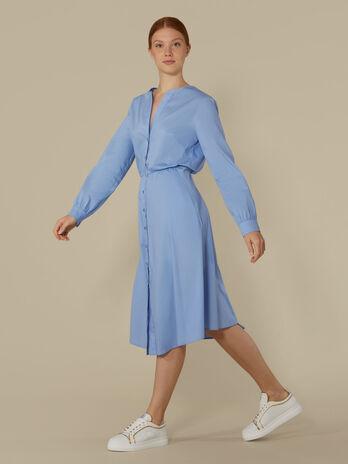 Robe mi-longue en coton technique