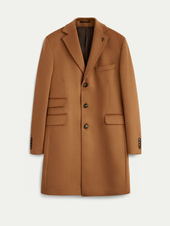 Regular fit pure wool coat
