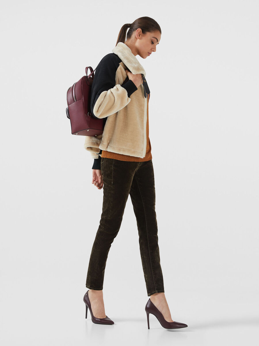 Medium saffiano With Love backpack with clutch