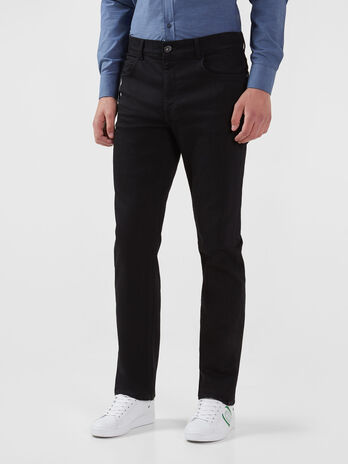 Icon 380 jeans in black Diego denim