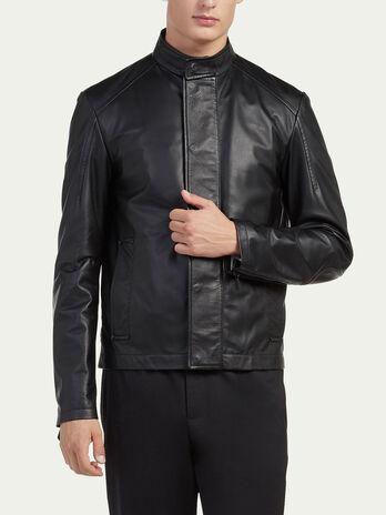 Pure leather biker jacket