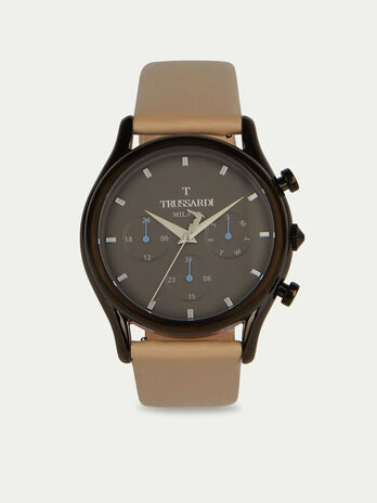 Montre Chronographe T-Light a bracelet en cuir